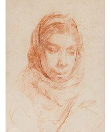 A Girl. Sketch for painting. Viktor Konovalov