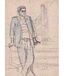 Мужчина в синем костюме. Инна Медникова