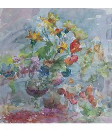 Flowers and Wine. Inna Mednikova