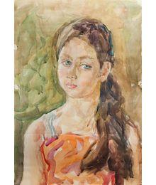 Girl with blue eyes. Inna Mednikova
