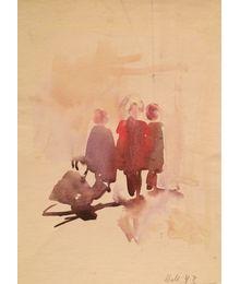 On a walk. Vassily Minyaev