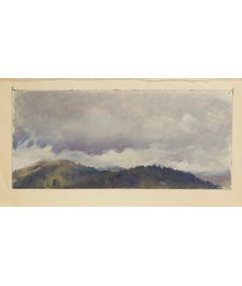 Clouds over the mountains. Evsey Reshin