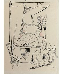 Г. и В. Караваевы. «Орлеанская дева» Карикатура для журнала «Крокодил»