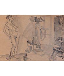 Scene with a Naked Girl. Inna Mednikova