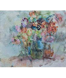 Flowers in Blue Vase. Inna Mednikova