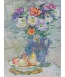 Flowers and Pears. Inna Mednikova