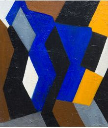 Composition with blue in the center. Ruben Apresyan