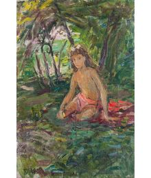 A Girl in the Garden. Tatiana Konovalova-Kovrigina