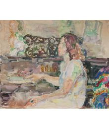 Girl at the piano. Inna Mednikova