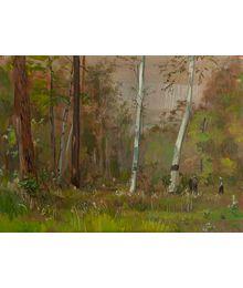 In a Birch Grove. Vassily Minyaev