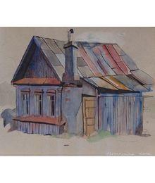Деревянный домик. Елена Новоженина