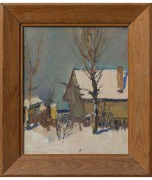 Houses in Winter. Evsey Reshin