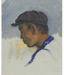 Man in a cap. Evsey Reshin