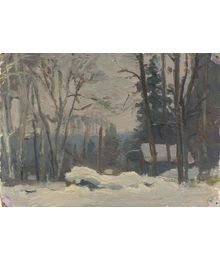 Winter in the Forest. Evsey Reshin