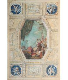 Эскиз росписи потолка для жилого дома на Смоленской. Василий Миняев