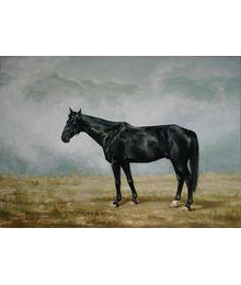 Кабардинский конь в горах. Катерина Уварова