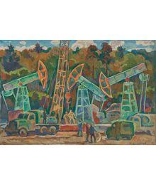 Oil well repairmen. Oleg Filippov