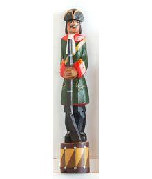 Wooden sculpture. A Soldier. Vadim Sokolov