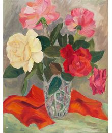 Still life with Roses. Unknown artist (Vormishin?)