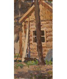 Этюд. Деревянный дом. Лариса Чорбадзе
