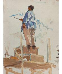 Реставратор. Этюд из серии «Реставрация Сталинграда». Лариса Чорбадзе