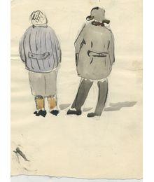 Muscovites. Notebook sketches. Double-sided. Larisa Chorbadze