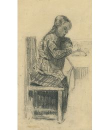Девочка рисует. Лариса Чорбадзе
