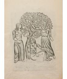 Harvest. Mosaic sketch. Oleg Filippov