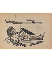 Boats. Pskov lake. Summer. Oleg Filippov