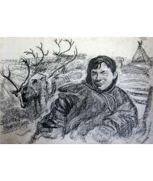 Портрет Анатолия Вануйто, оленевода, депутата XXVI съезда КПСС. Владимир Харченко