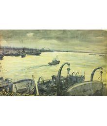 В порту. Владимир Харченко