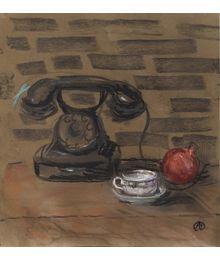 Натюрморт с телефоном. Аля Путрик
