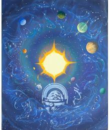Покорение космоса. Оригинал плаката. Андрей Спиров
