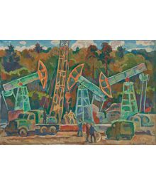 Oil well repairmen. Oleg Filippov