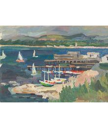 Boats at the pier. Oleg Filippov