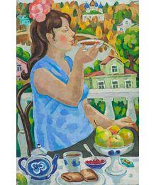 Чаепитие на даче. Олег Филиппов
