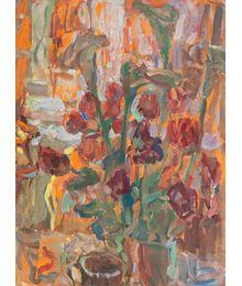 Tulips and callas (two-sided still life). Inna Mednikova