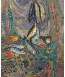 Натюрморт с рыбами. Инна Медникова