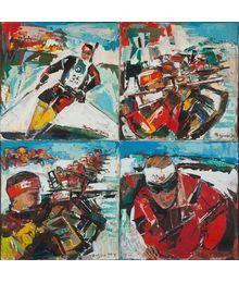 Biathlon. Quadriptych. Vadim Sokolov