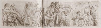 Sketch of frieze painting. Viktor Konovalov