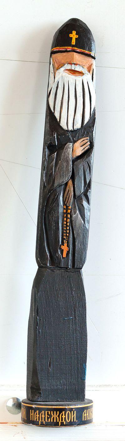 Деревянная скульптура. Батюшка. Вадим Соколов
