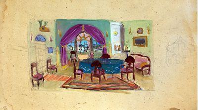 Theatrical scenery sketch. Inna Mednikova