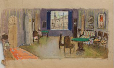 Interior. Scenery sketch. Inna Mednikova
