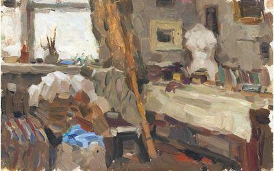 Dmitry Tegin. Interior in the Studio