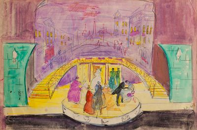 """Stage design for the Play by Griboyedov """"Woe from Wit"""". Ball at Famusov. Inna Mednikova"""