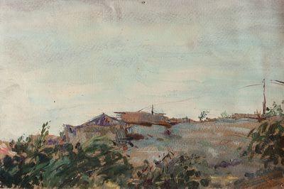 Etude. Summer landscape. Larisa Chorbadze