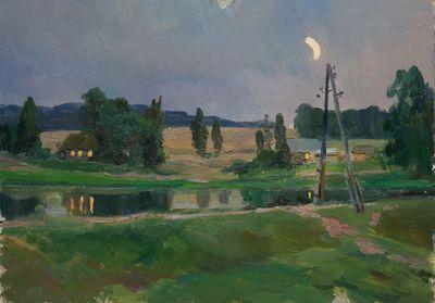 Village Night. Evgeny Bitkin