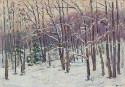 Winter Evening in the Forest. D.Chumakov