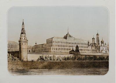 Московский Кремль. Со старой гравюры. Неизвестный автор