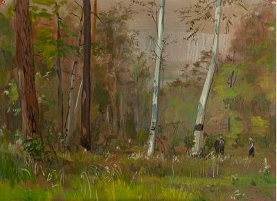 In a Birch Grove. Vassily Minyaev